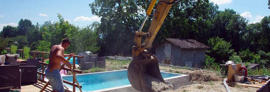 construction d'une piscine